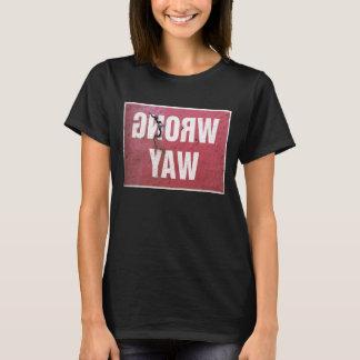 Camiseta Muestra oxidada del vintage que advierte la manera