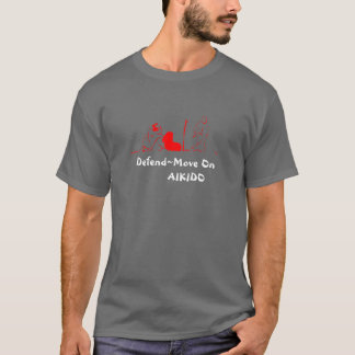 Camiseta Muévase en el rojo, Defend~Move en        AIKIDO