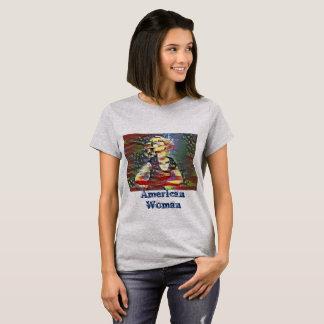 Camiseta Mujer americana