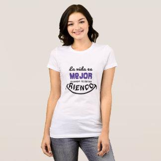 Camiseta Mujer, La vida es mejor riendo