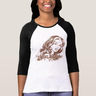 Camiseta Mujer Maravilla Brown