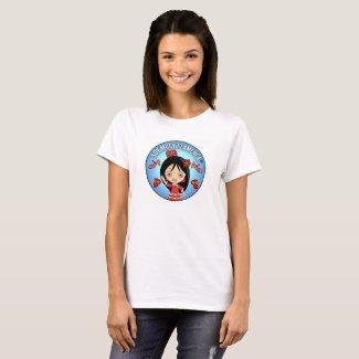 Camiseta Mujer Soy Muuy Flamenca Roja y Azul