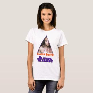 Camiseta Mujeres anaranjadas de BT del mecanismo blancas