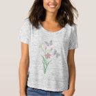 Camiseta Mujeres de la flor del diamante de la mariposa del