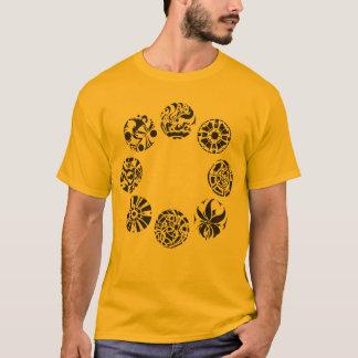 Camiseta múltiple del adulto de los símbolos de