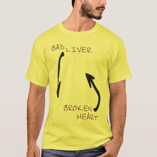 Camiseta Mún hígado y un corazón quebrado