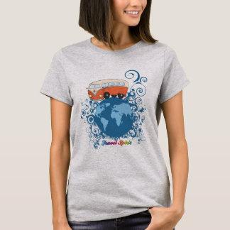 Camiseta Mundo del viaje del microbús del vintage con