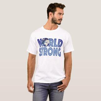 Camiseta Mundo fuerte para la ropa ligera de los hombres