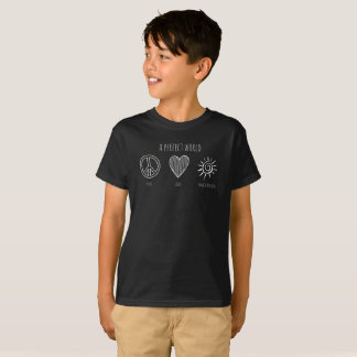 Camiseta Mundo perfecto: Paz, amor, niño de Homeschooling