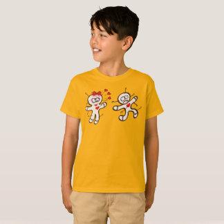 Camiseta Muñeca masculina del vudú que corre de una hembra