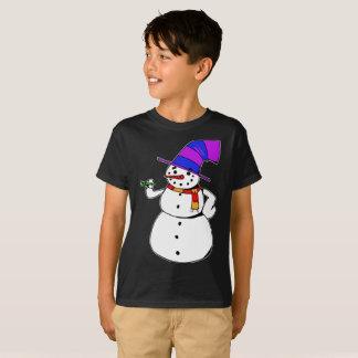 Camiseta Muñeco de nieve feliz