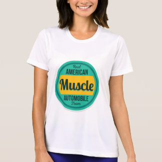 Camiseta Músculo americano. Vintage americana