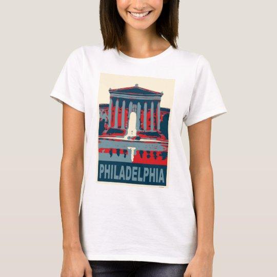 Camiseta Museo de Philadelphia en azul
