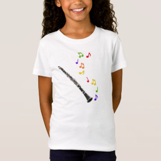 Camiseta Música colorida del Clarinet