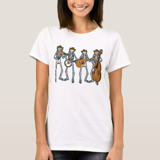 Camiseta Música country que juega los esqueletos