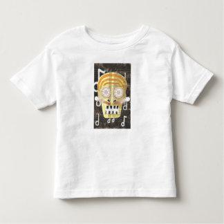 Camiseta musical del niño del cráneo