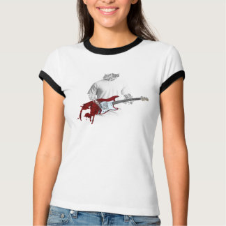 Camiseta Músico abstracto que toca la guitarra eléctrica de