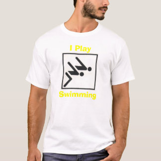 Camiseta nadada, juego, nadando
