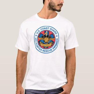 Camiseta nadador del rescate del guardacostas