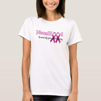 Camiseta NanaHood - logotipo rosado de la cinta