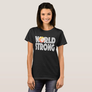Camiseta Naranja fuerte del mundo