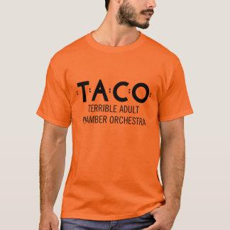 Camiseta, naranja y negro básicos del TACO Camiseta