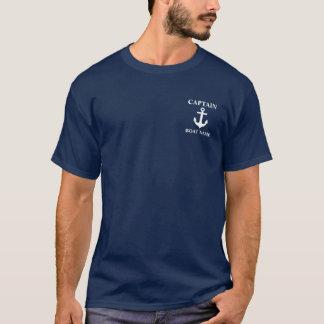 Camiseta náutica M de capitán Boat Name Anchor