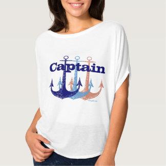 Camiseta Náutico azul del capitán del ancla personalizado