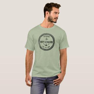 Camiseta Náutico-Navegación de Quay y del ancla