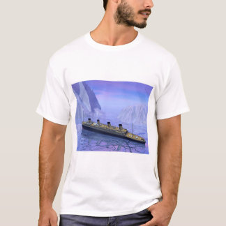 Camiseta Nave titánica que se hunde - 3D rinden