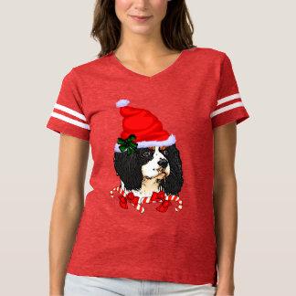 Camiseta Navidad arrogante del perro de aguas de rey