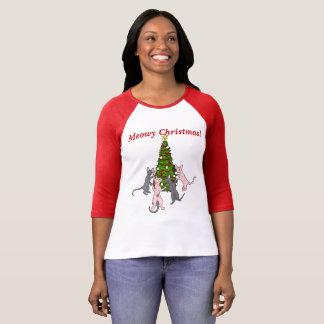 Camiseta ¡Navidad de Meowy! Sphynx y gatos del Bambino