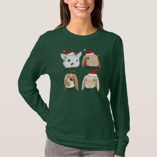 Camiseta Navidad del manojo del conejito