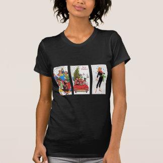 Camiseta navidad del vintage del Rockabilly