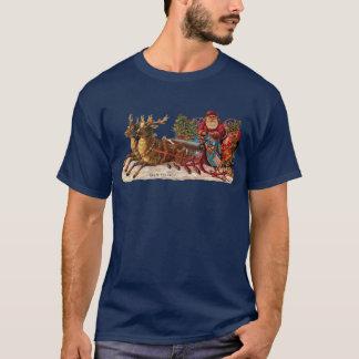 Camiseta Navidad del vintage - Victorian Papá Noel