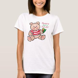 Camiseta Navidad feliz de los días del acebo del oso