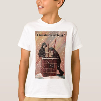 Camiseta Navidad o busto, foto de la antigüedad del barrido