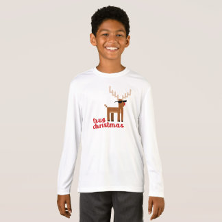 Camiseta Navidad sospechada roja del reno de Rudolph de la