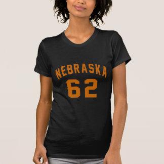 Camiseta Nebraska 62 diseños del cumpleaños