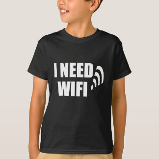 Camiseta necesito wifi