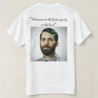 Camiseta negocio en fiesta del frente del th en la parte