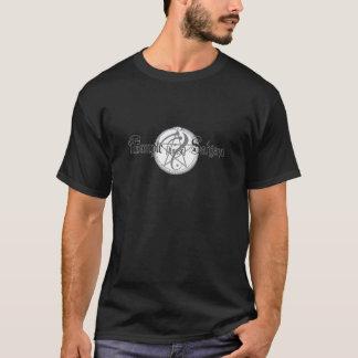 Camiseta negra básica del logotipo de Sahjaza de