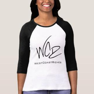 Camiseta negra/blanca del béisbol WCR
