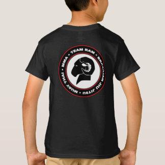 Camiseta negra clásica de Hanes RAM de los niños