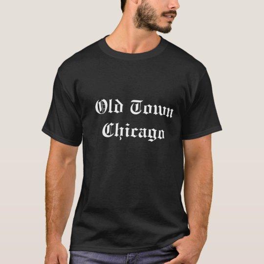 camiseta negra de Chicago de la ciudad vieja