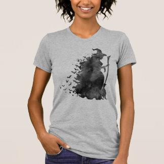 Camiseta negra de la bruja