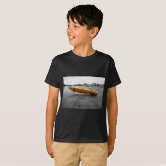 Camiseta negra de la impresión de la fotografía
