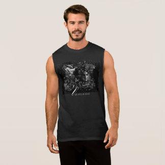 Camiseta negra de la mascarada de los hombres