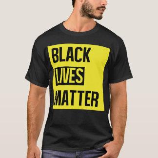 Camiseta negra de la materia de las vidas