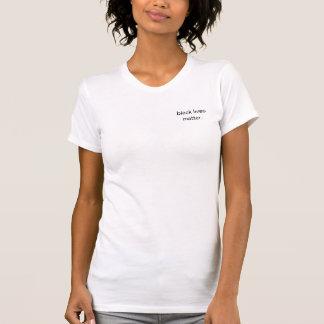 Camiseta negra de la materia de las vidas de las